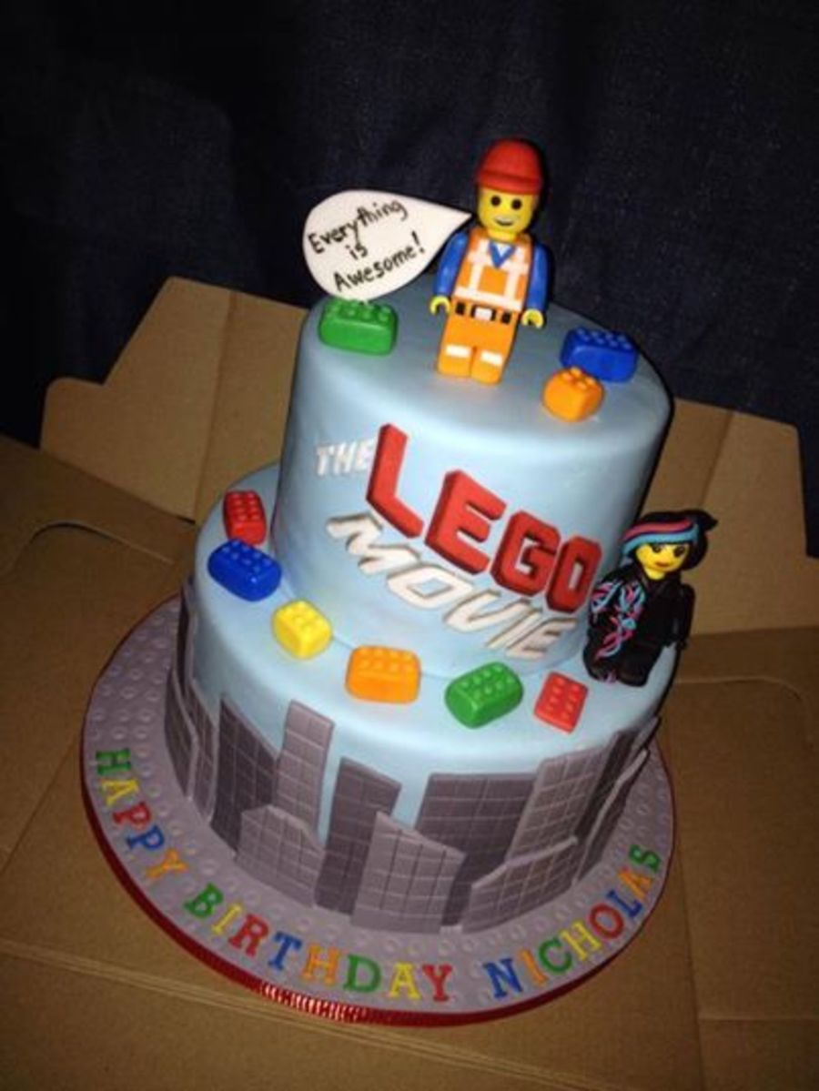 Lego Movie Cake Everything Hand Made And Edible