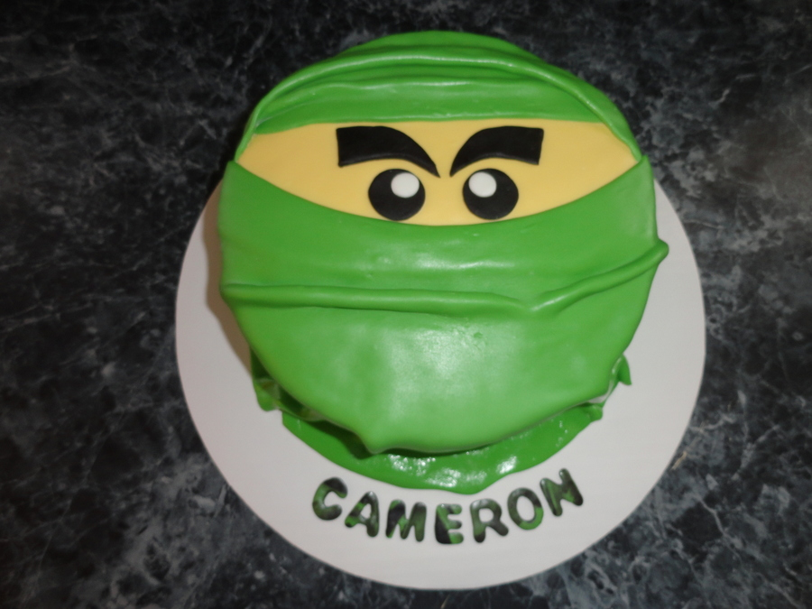 Ninjago Birthday Cake Vanilla Cake With Reeses Filling Decorated In Mmf  on Cake Central