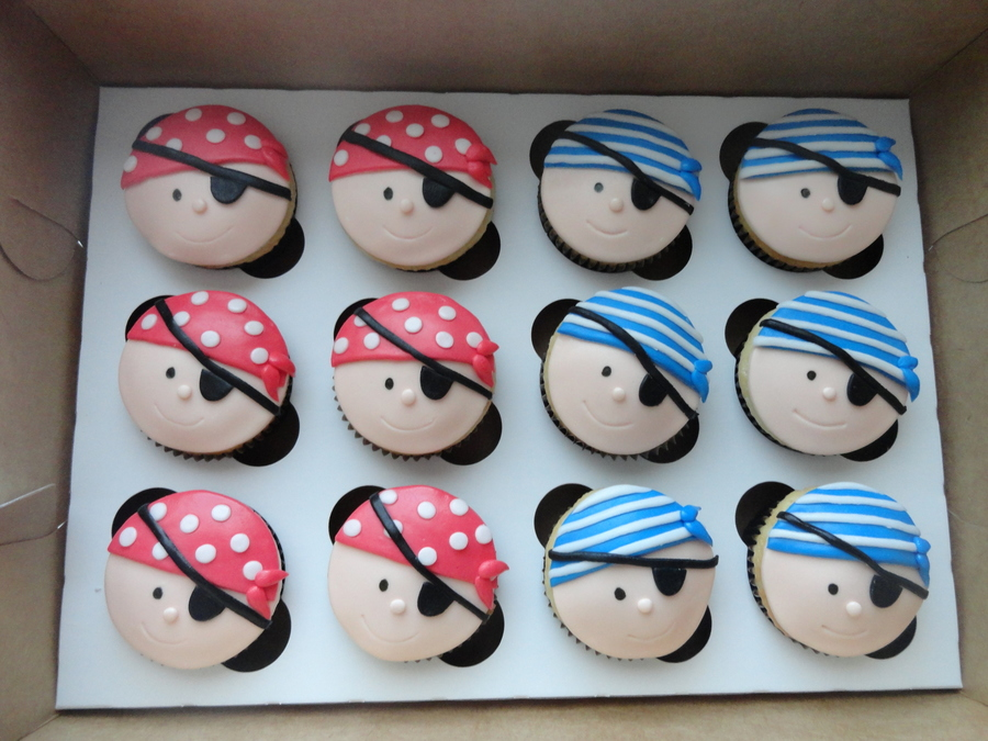 Pirate Cup Cakes on Cake Central