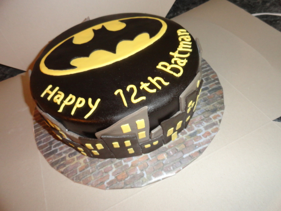 Chocolate Batman Cake Covered In Black Chocolate Mmf on Cake Central