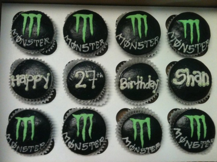 Monster Energy Drink Cupcakes Cakecentral Com