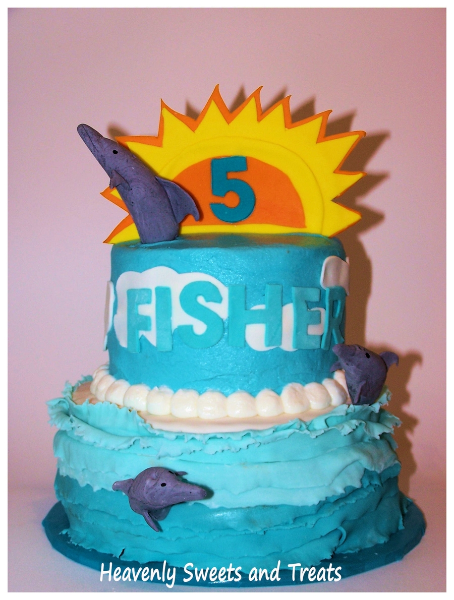 Dolphins For Fisher on Cake Central