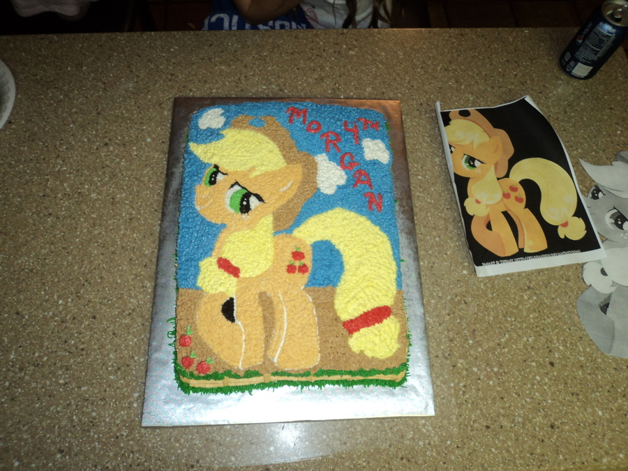 My Little Pony Apple Jack This Is A Sheet Cake With Butter Cream Piped  on Cake Central