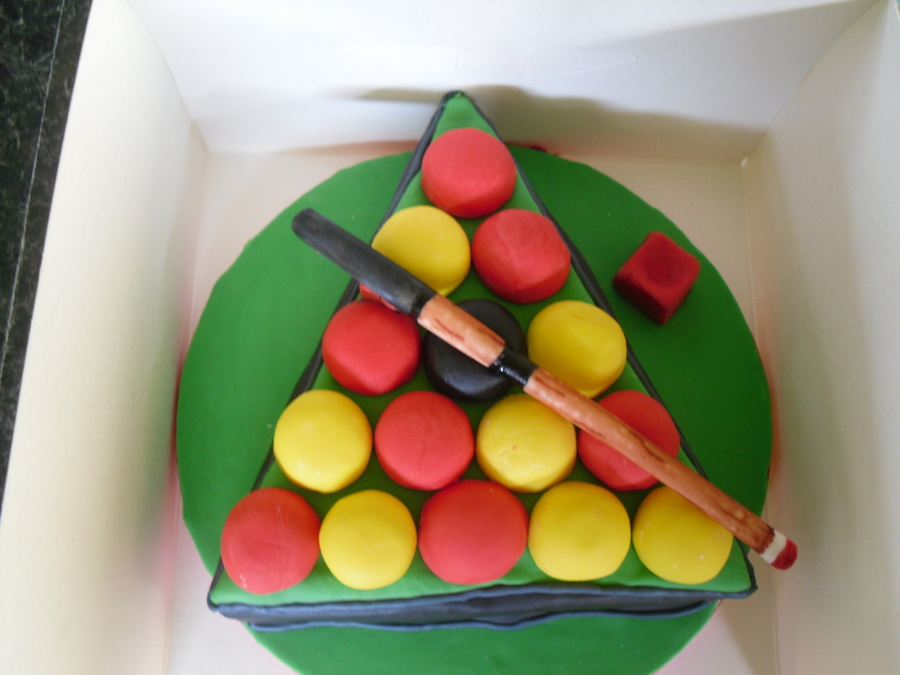 Pool Table Triangle On Cake Central