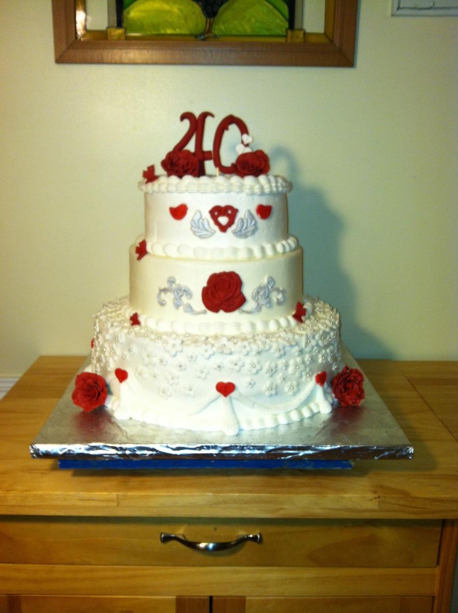 Th Anniversary Cake Decorations