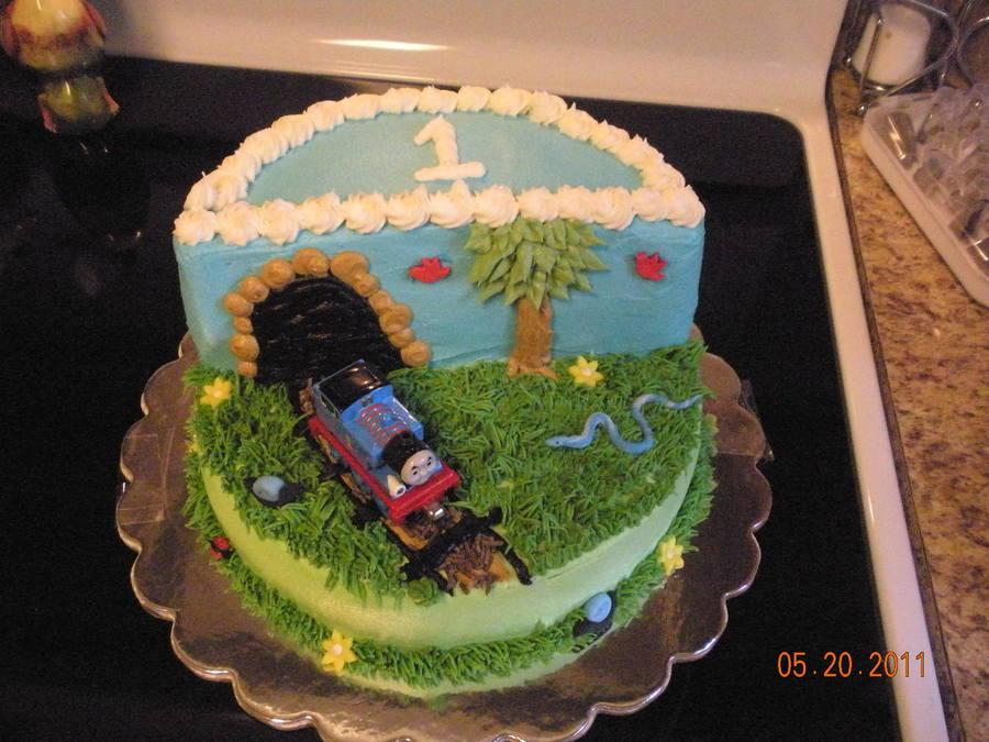 Thomas The Train Birthday Cake Smash Cake Cakecentral Com