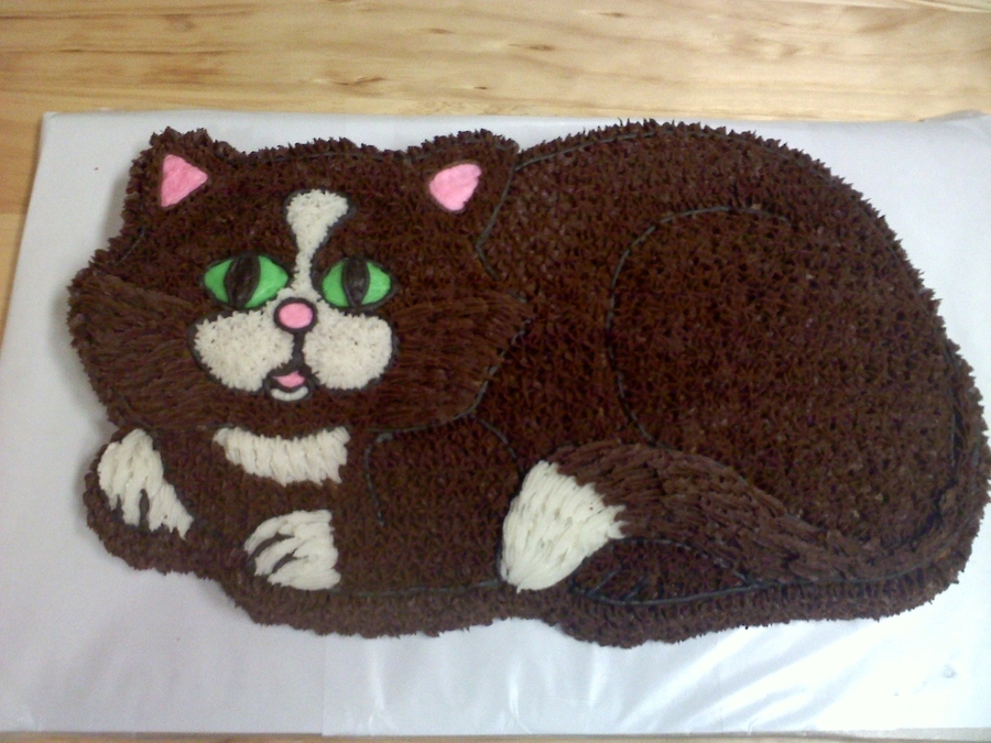 Cake Decorating Ideas Cat : Kitty Cat Cake - CakeCentral.com