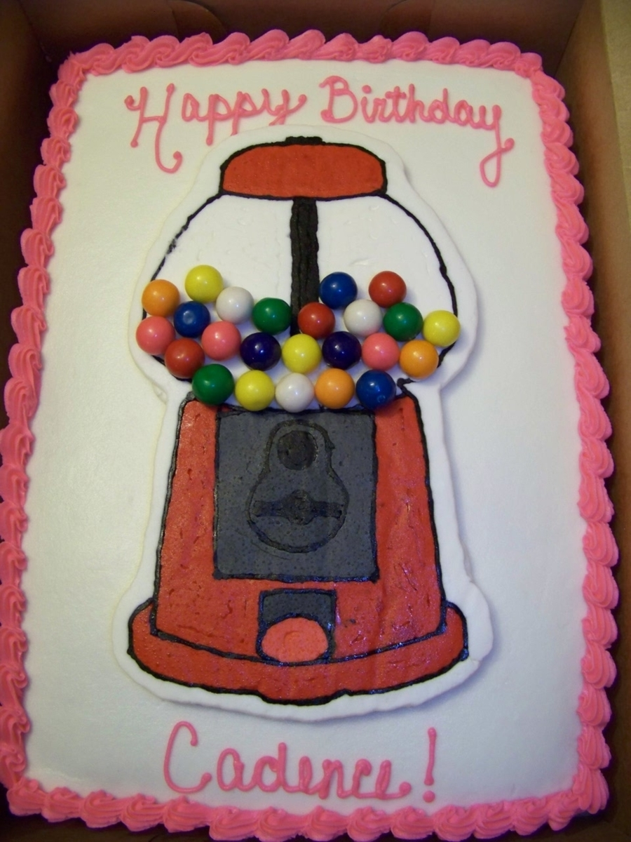 Bubblegum Ball Machine Cake on Cake Central