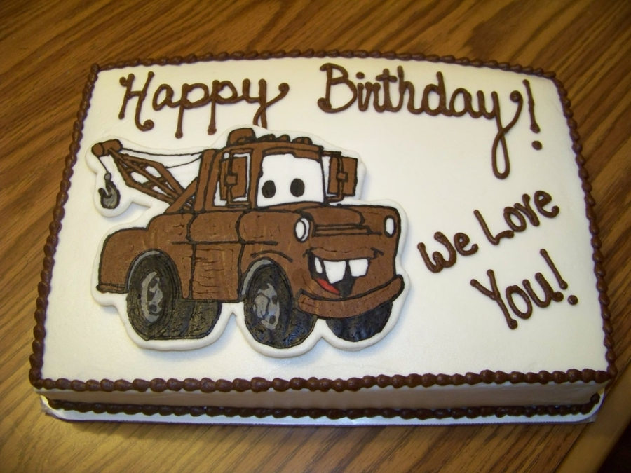 Astonishing Mater Birthday Cake Cakecentral Com Funny Birthday Cards Online Alyptdamsfinfo