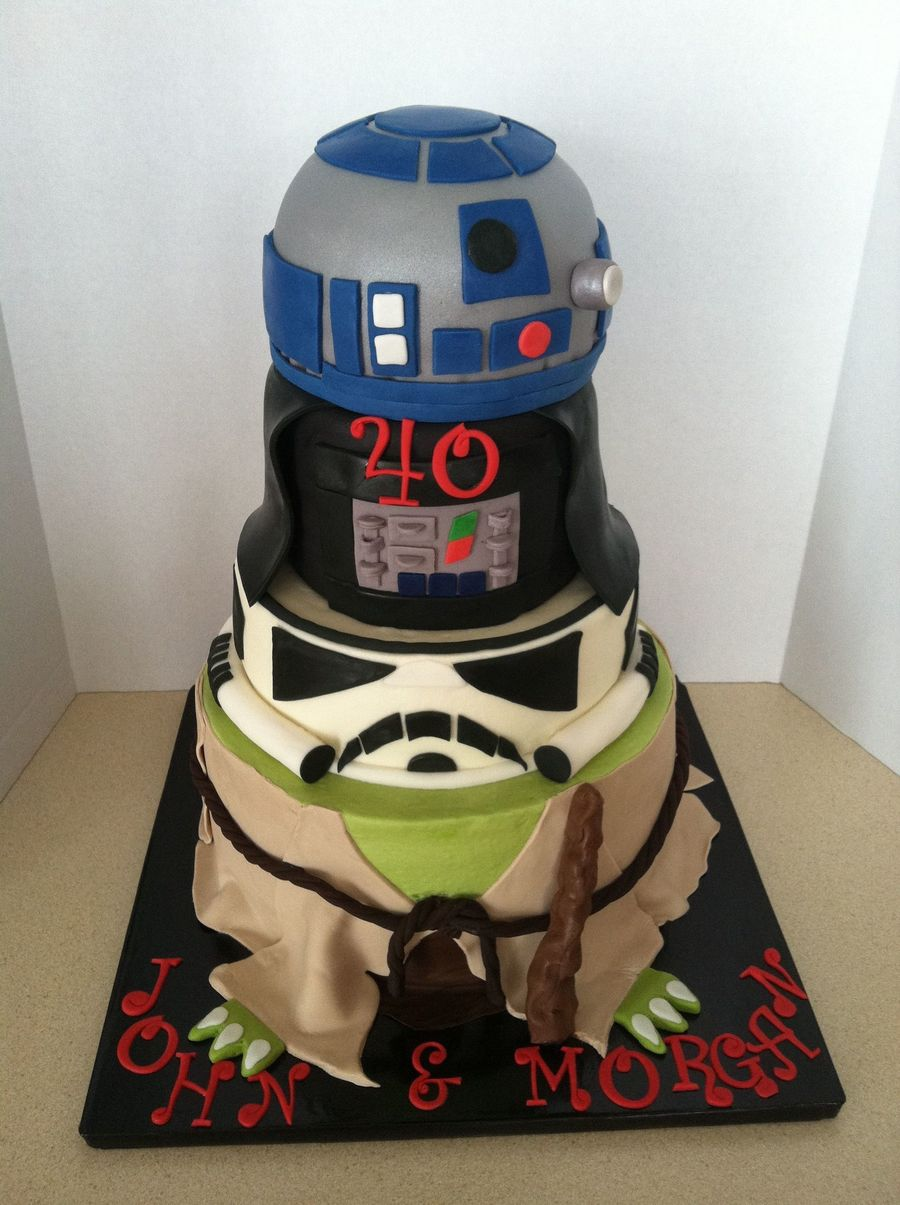 May 40 Be With You Bottom Tier 10buttercream With Fondant