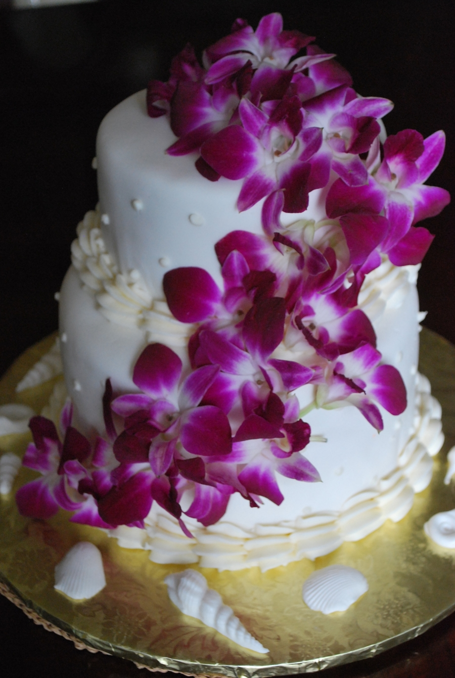 Fresh Orchid Beach Cake on Cake Central