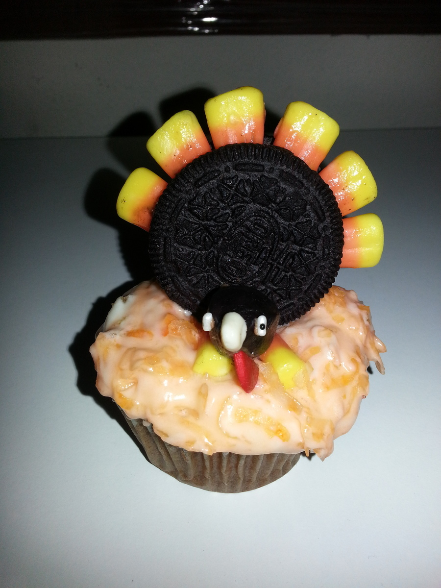 Turkey Cupcake on Cake Central