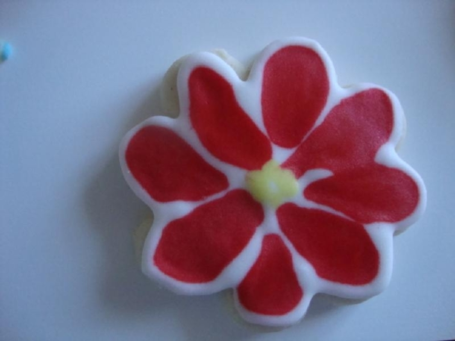 Flower Cookie on Cake Central