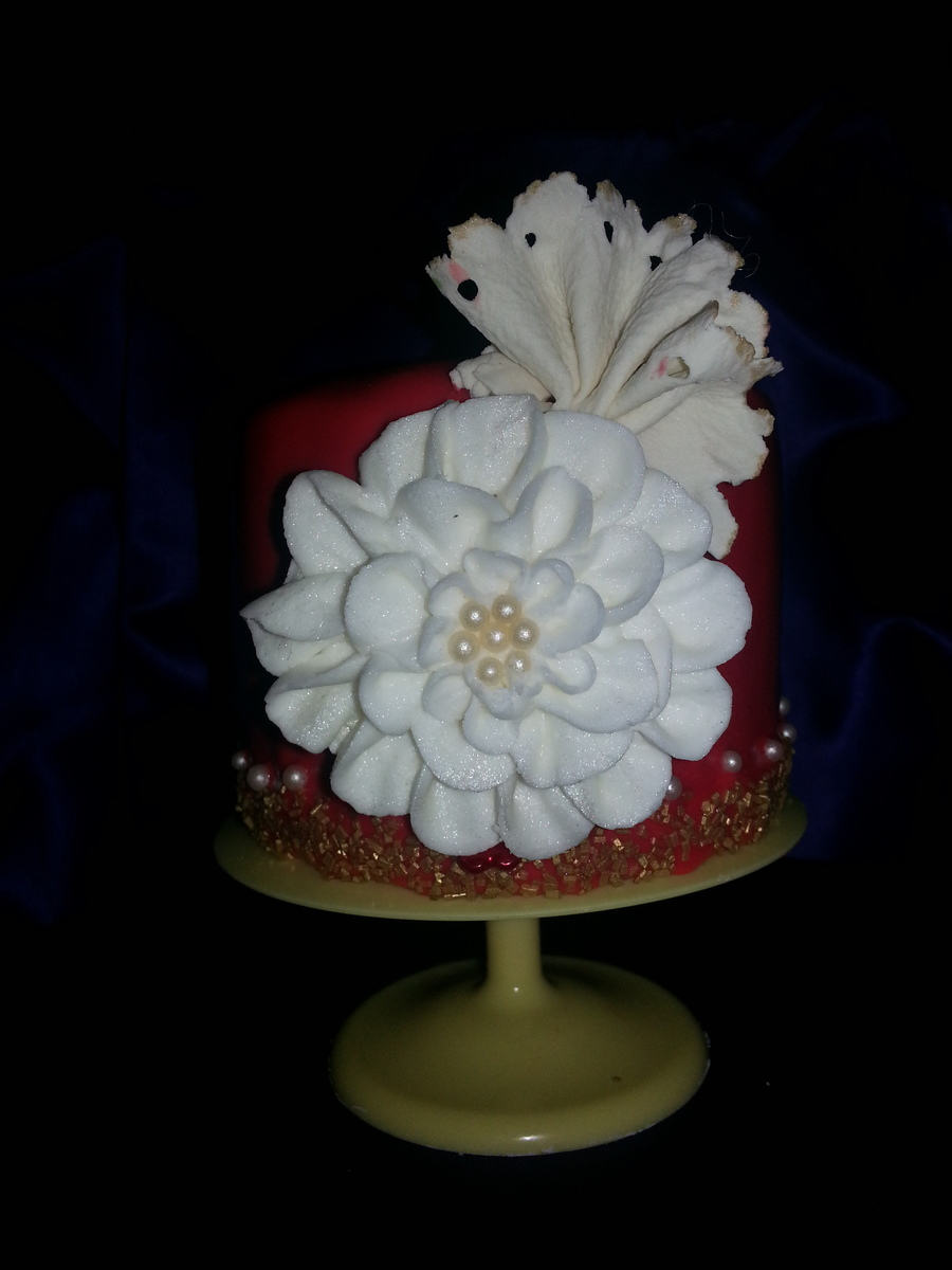 Buttercream Flower Iearn From Melissa At Mycakeschool And Bling Marina Sousa At Craftsy  on Cake Central