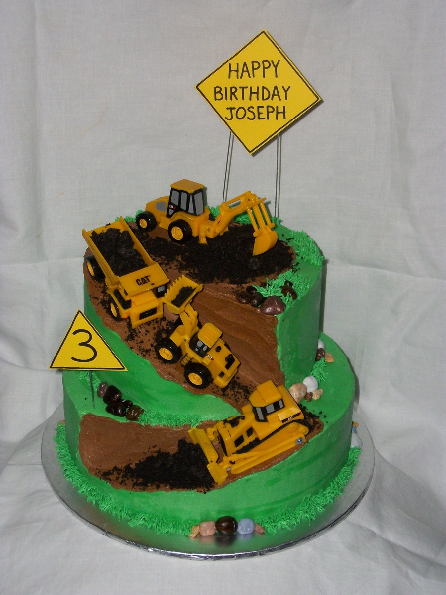 Happy Birthday Cake With Dump Truck