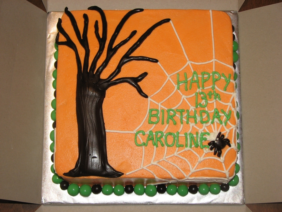 Halloween Birthday Theme on Cake Central