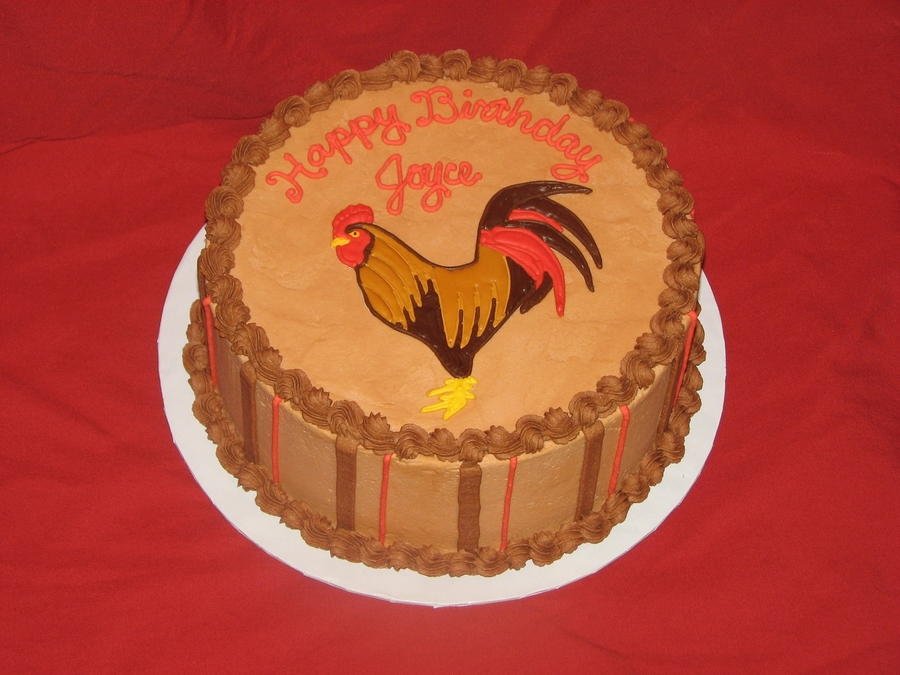 rooster birthday cake cakecentral com