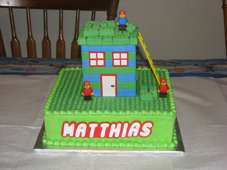 Lego Cake For My Son He Designed It I Made It Tfl on Cake Central