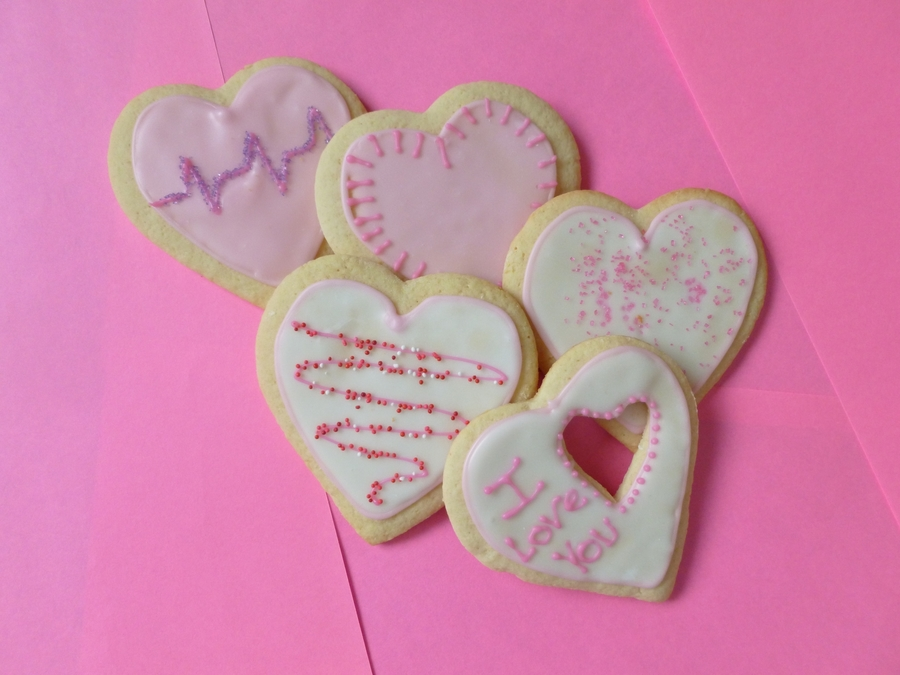 Valentine Sugar Cookies on Cake Central