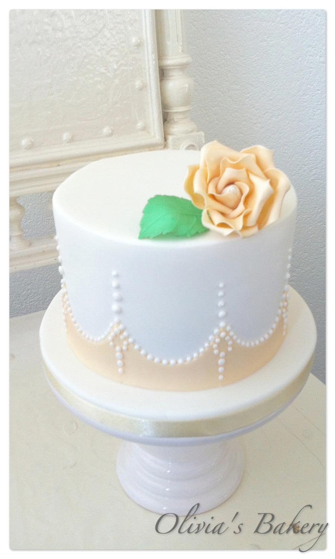Vintage Rose Wedding Cake Sample CakeCentralcom