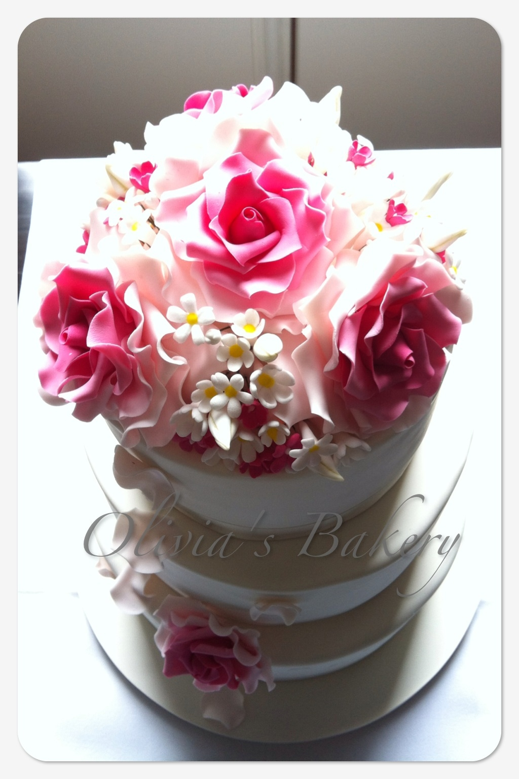Vintage Rose Wedding Cake - CakeCentral.com