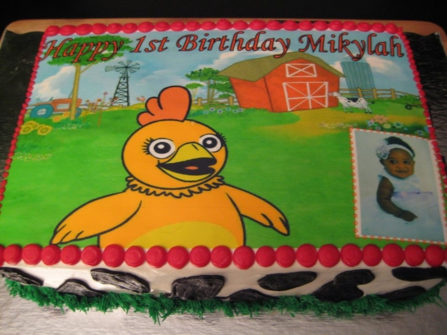 Chica (From Sprout Channel) 1St Birthday Cake on Cake Central
