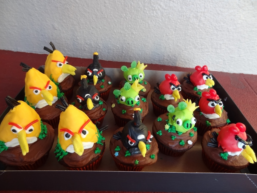 Angry Birds Cupcakes- No Fondant on Cake Central