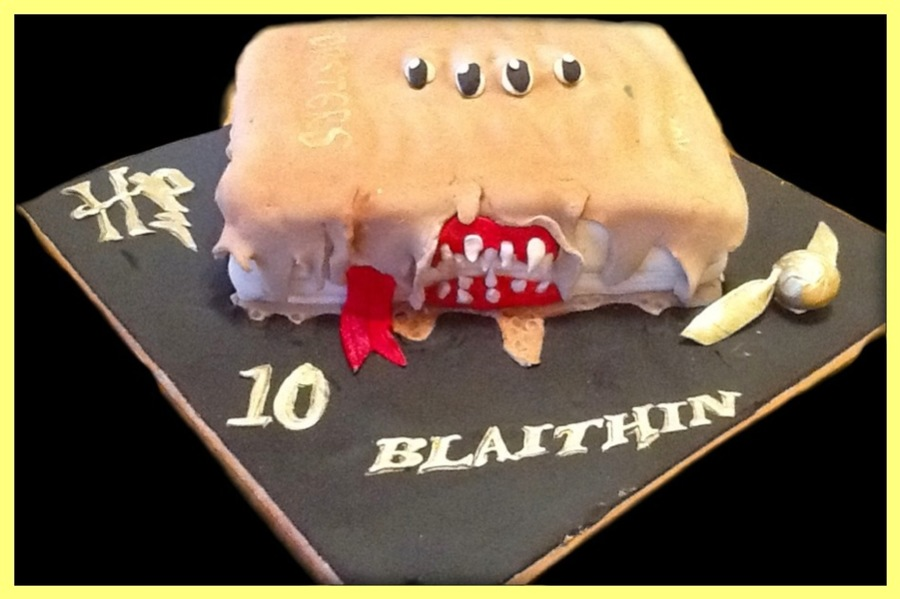 Hp Monster Book on Cake Central