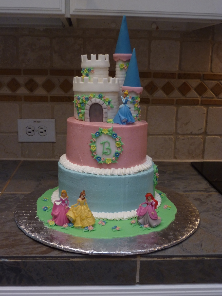 Disney Princess Castle Cake on Cake Central