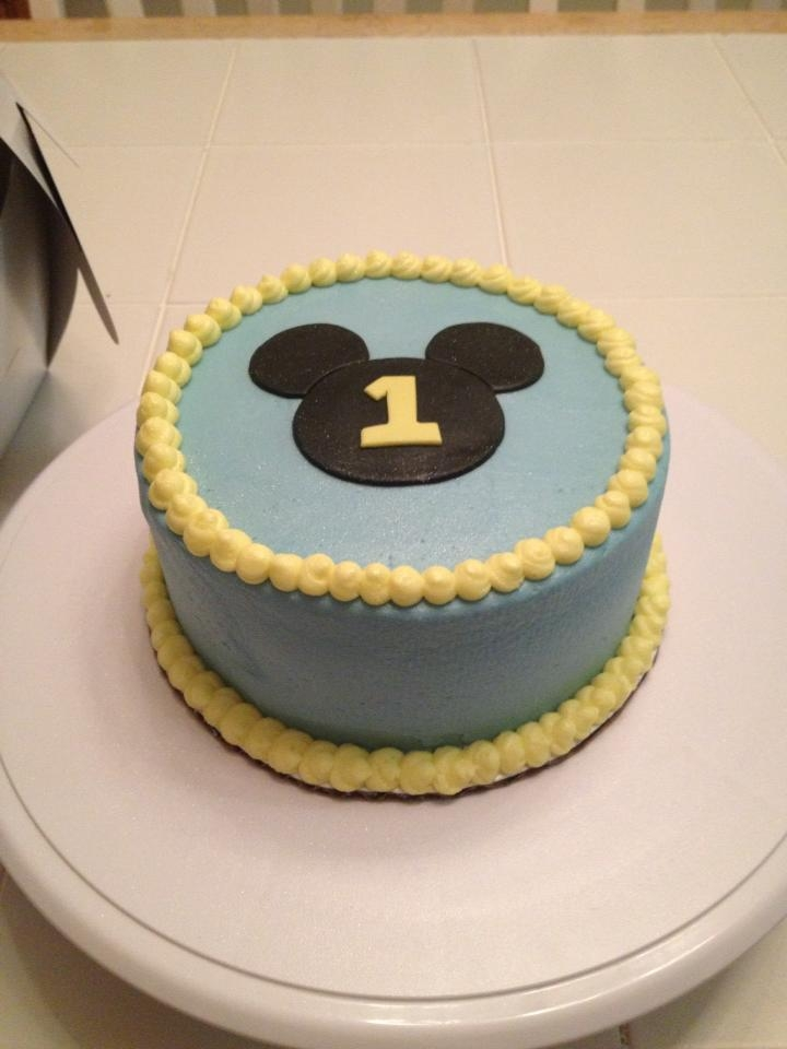 1st Birthday Cake For A Friends Little Boy Simple Design From