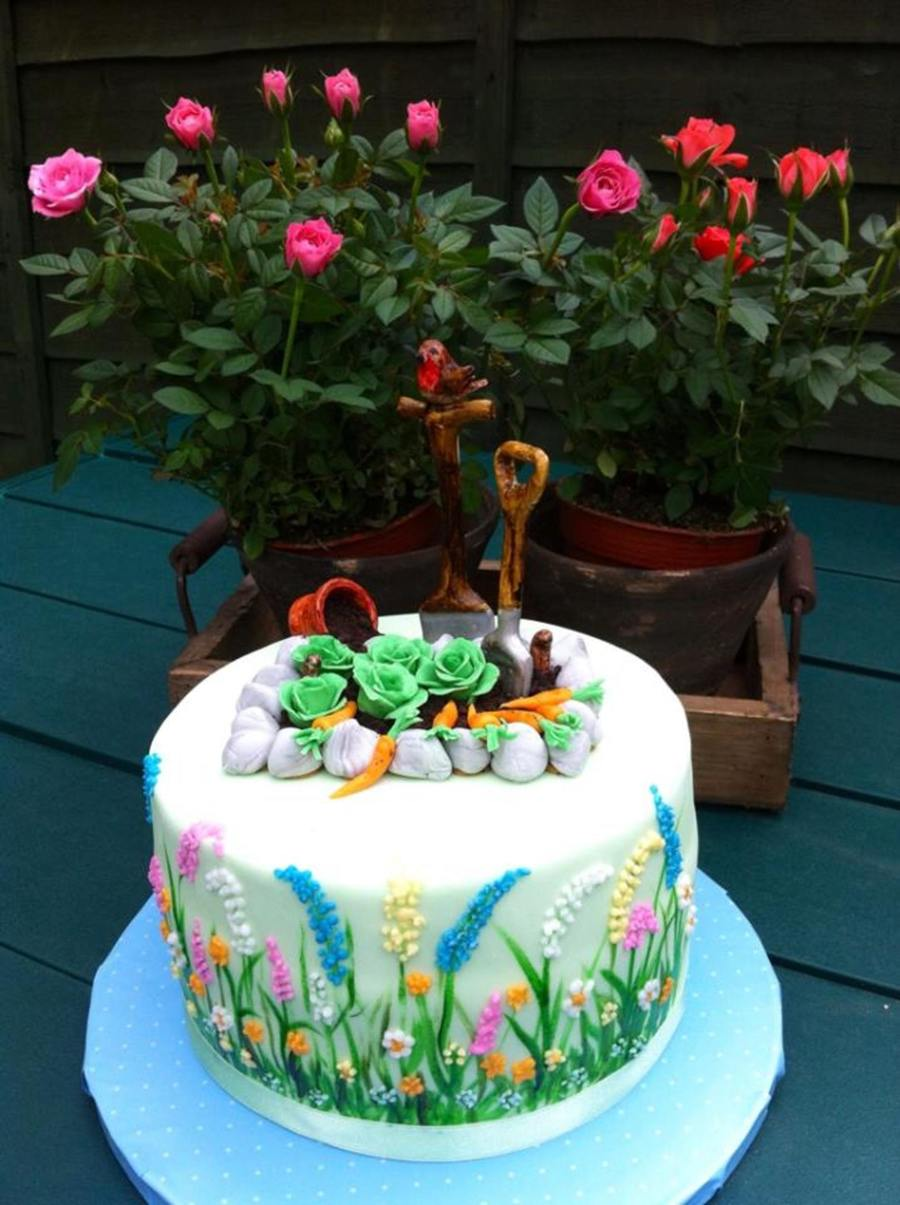 Birthday cake made for my uncle to celebrate his 80th for Gardening 80th birthday cake