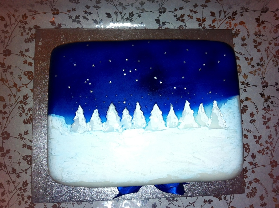 Starry Christmas Night on Cake Central