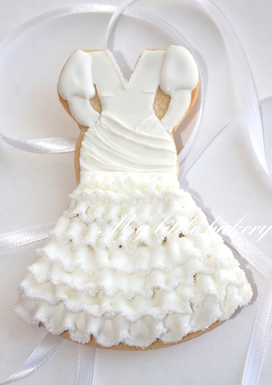 Wedding Dress Cookie  on Cake Central