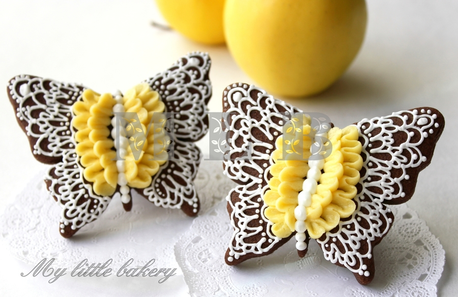 Lace Butterfly Cookies on Cake Central