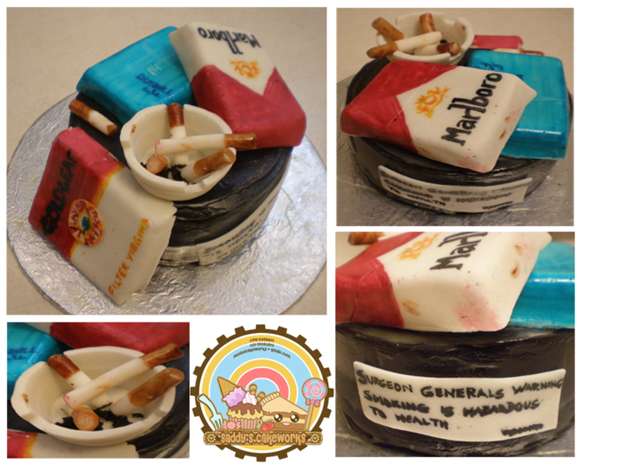 Cigarette Cake on Cake Central