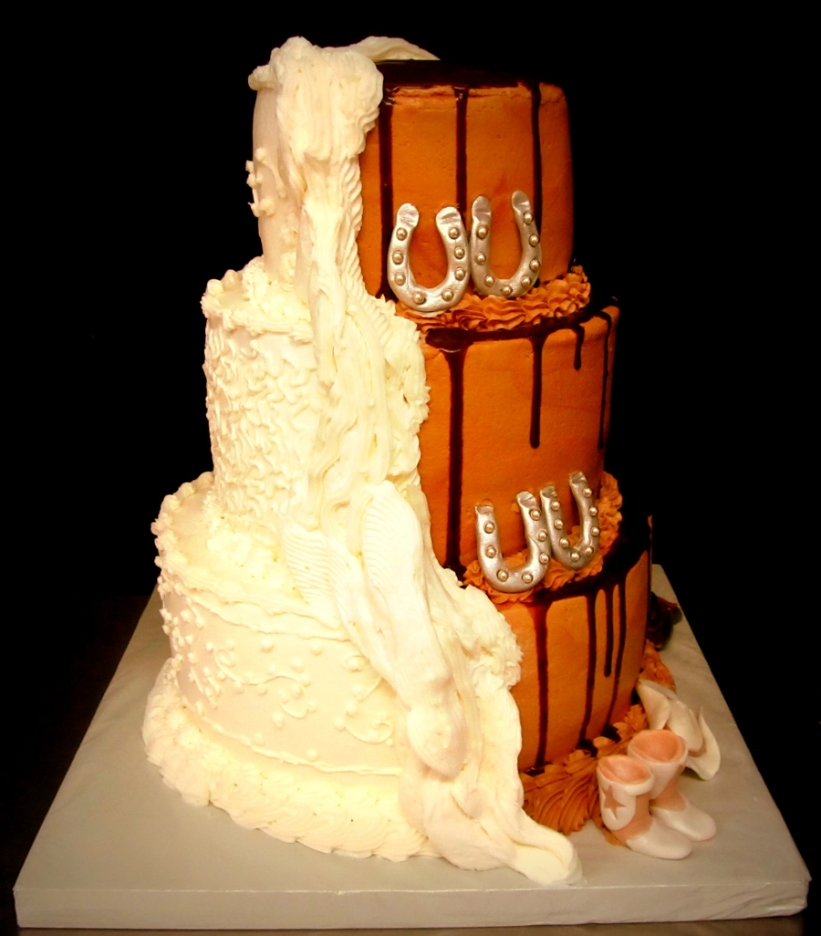 Vanilla And Chocolate Wedding Cake - CakeCentral.com