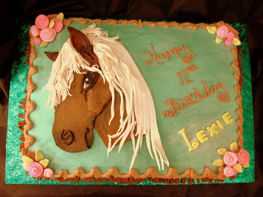Pretty Horse on Cake Central