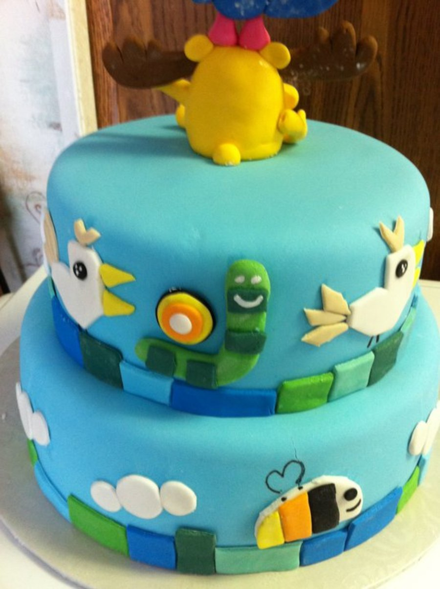 Moose And Zee Birthday Cake Cakecentral Com