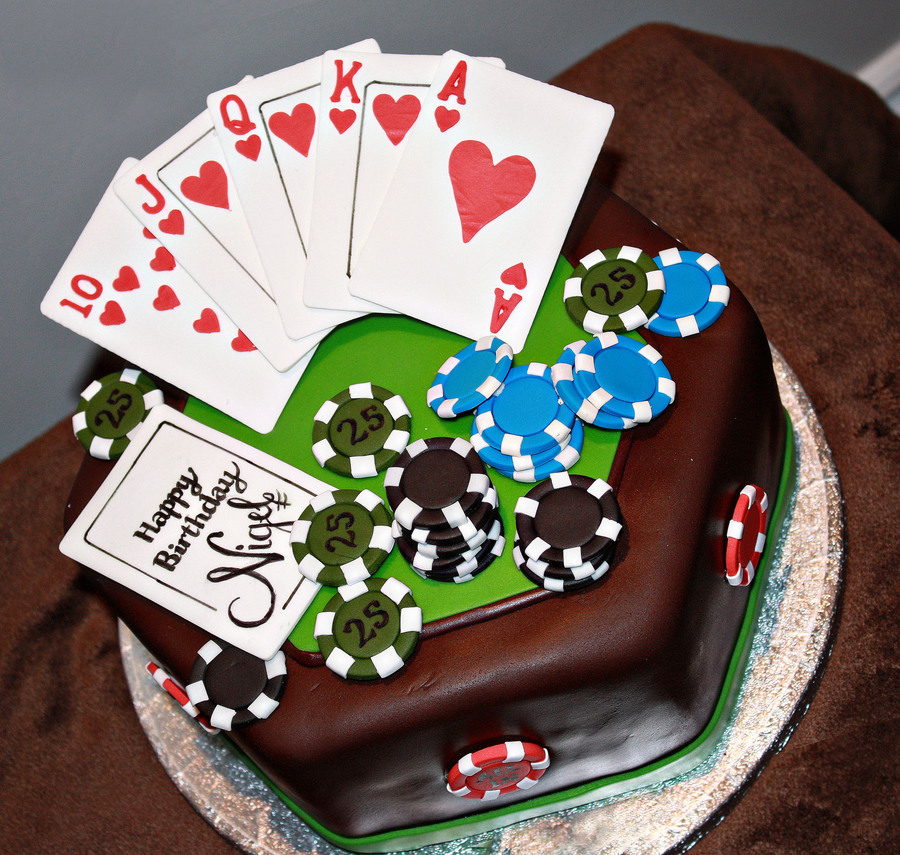 Poker Happy Birthday Cake