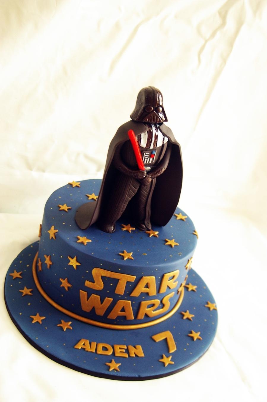 Darth Vader With Birthday Cake