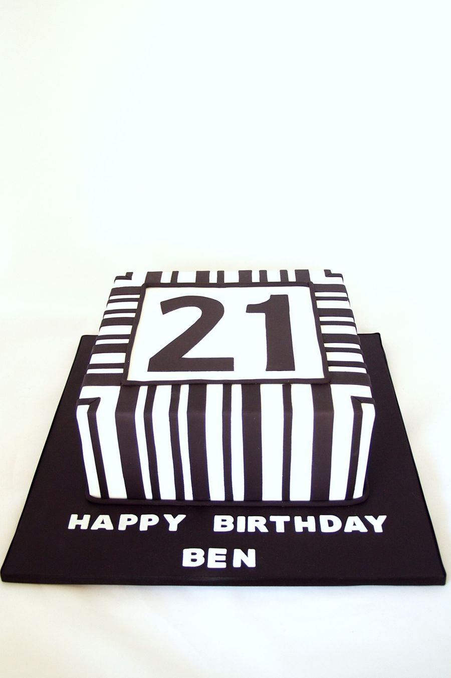 Black And White Stripes on Cake Central