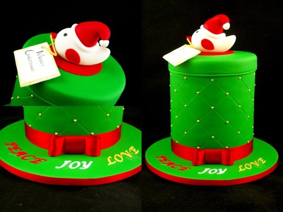 Family Christmas Cake For 2012 6 Double Barrel White Choc