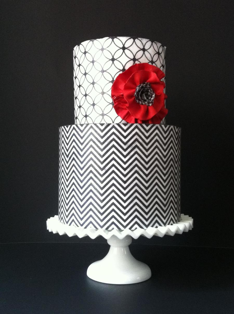 Black, White & Red All Over on Cake Central