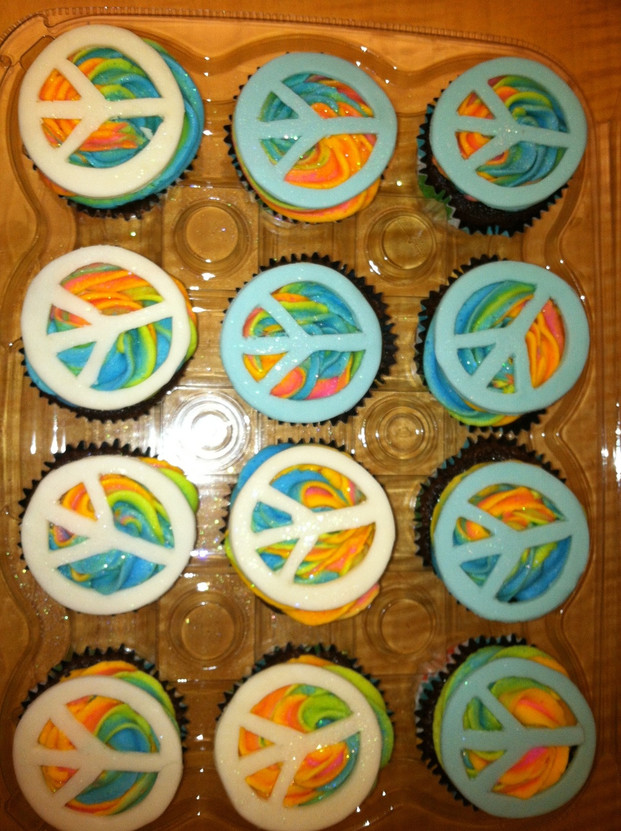 70's Party Cupcakes on Cake Central