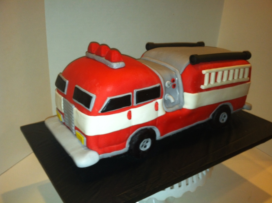 Firetruck Birthday Cake on Cake Central