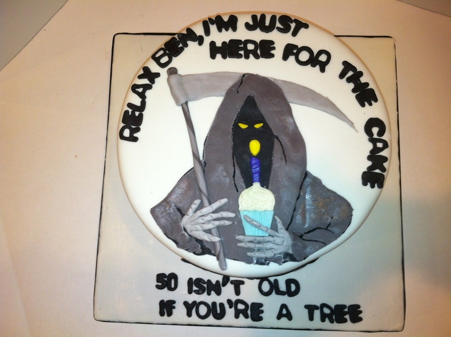 Grim Reaper 50Th Birthday Cake on Cake Central