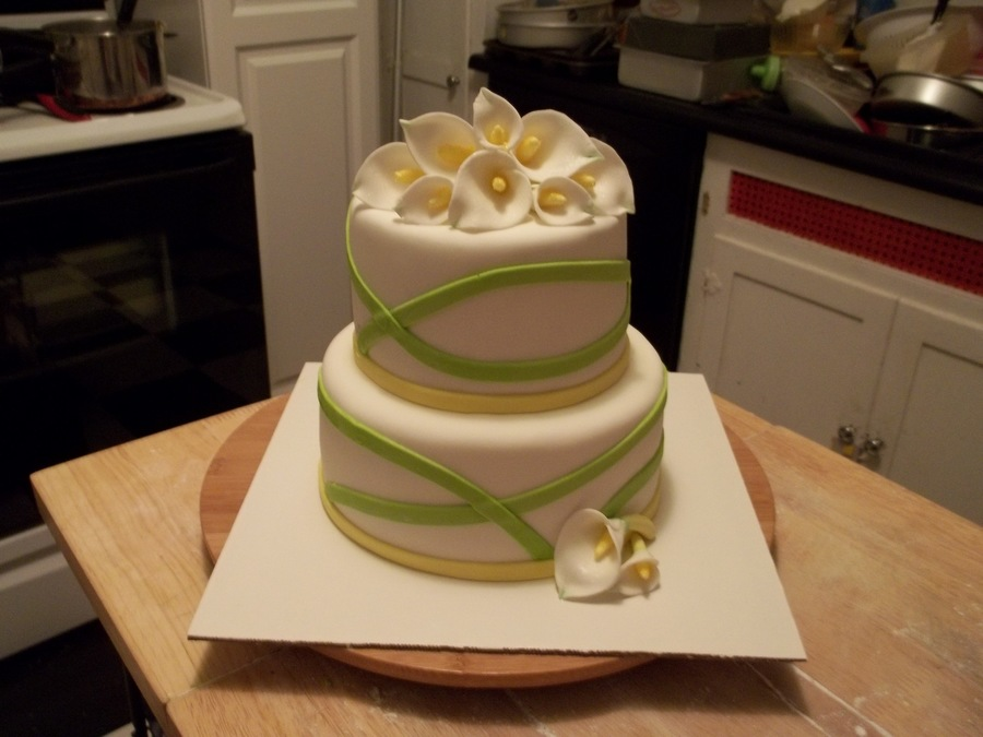 Green And Yellow Calla Lily on Cake Central