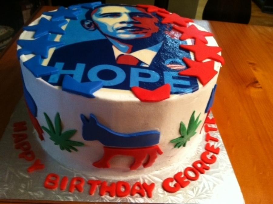 Awe Inspiring Obama Cake Cakecentral Com Funny Birthday Cards Online Inifodamsfinfo