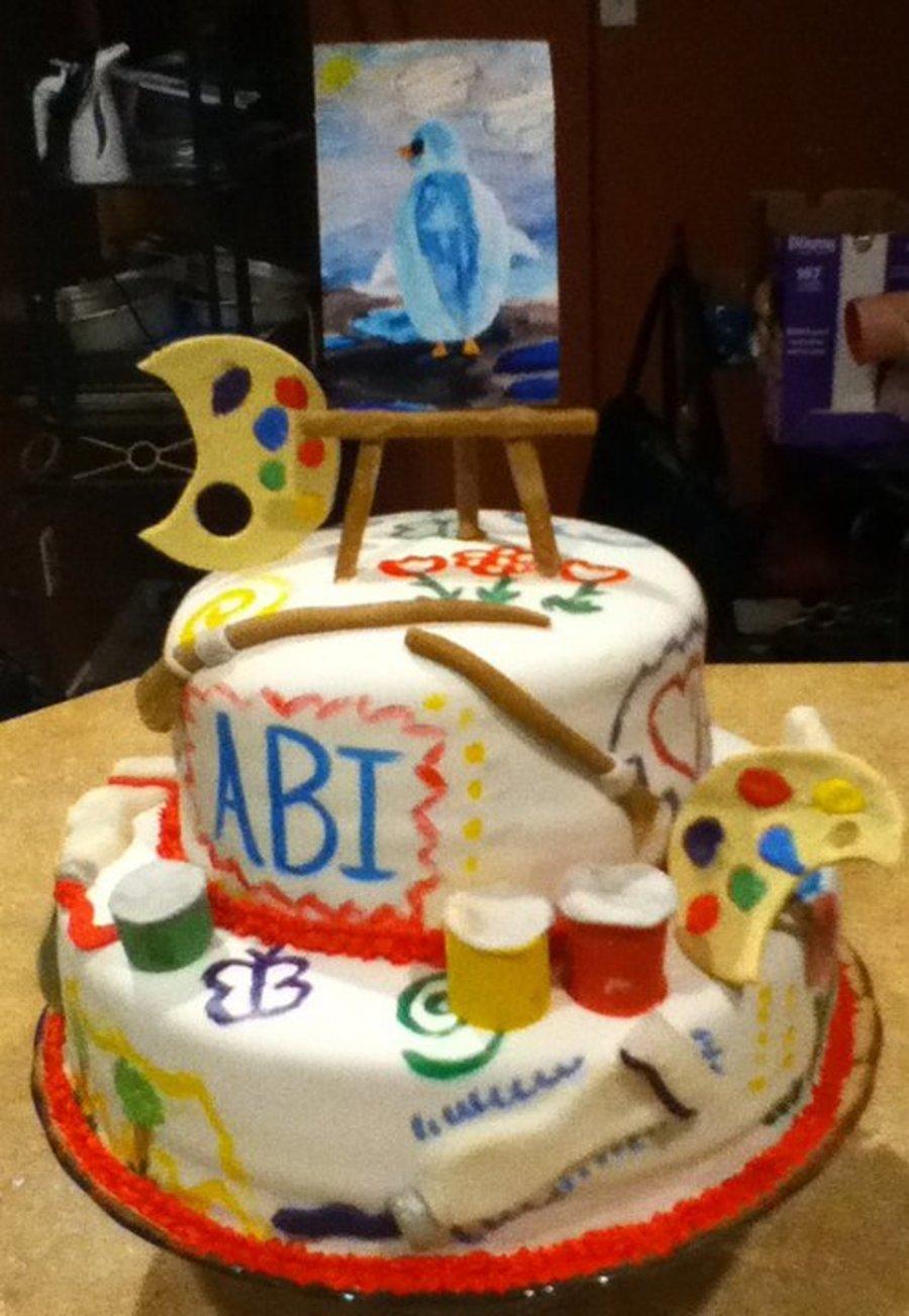 Astonishing Artist Birthday Cake Cakecentral Com Personalised Birthday Cards Paralily Jamesorg
