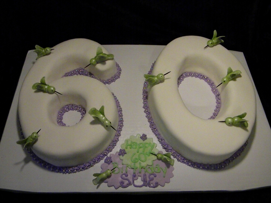 Hummingbird 60Th Birthday Cake  on Cake Central